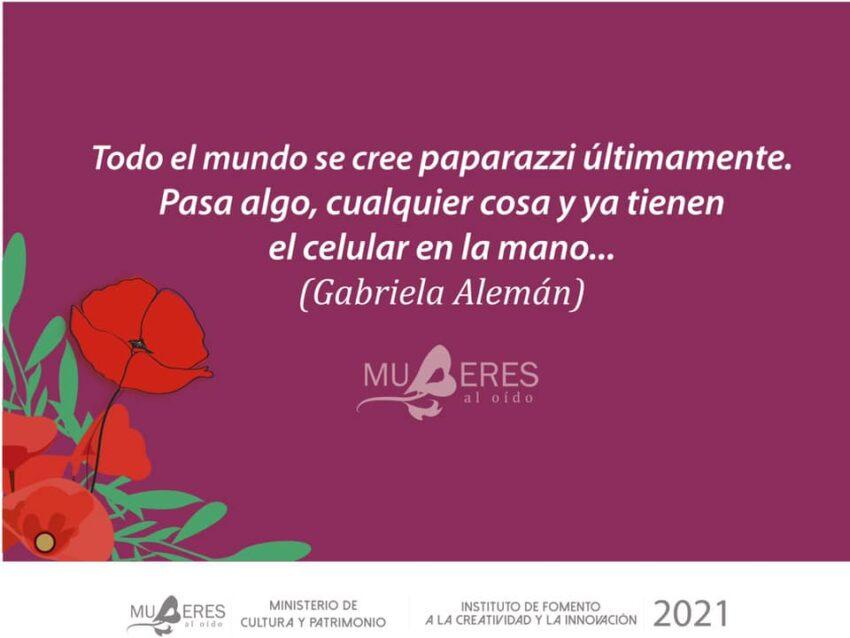 Imagen promocional del primero cuento que lanzará el proyecto, 'Labios rojos', de Gabriela Alemán.