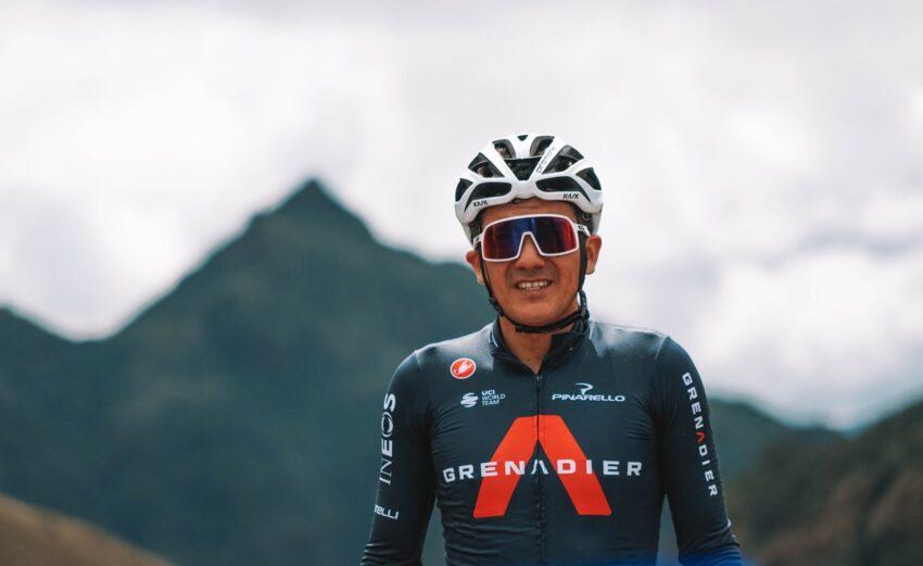 Richard Carapaz durante sus entrenamientos en Ecuador, en febrero de 2021.