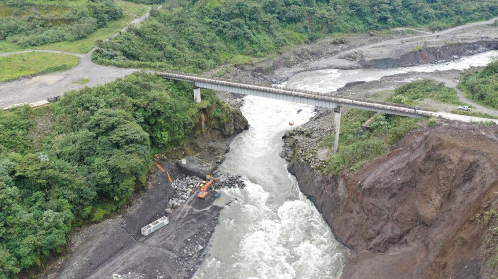 El río Malo y las lluvias podrían acelerar la erosión regresiva en el río Coca