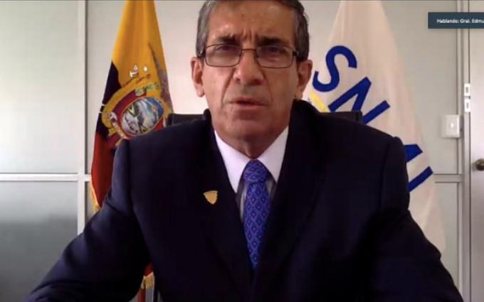 Edmundo Moncayo, director del SNAI, durante su comparecencia ante la Asamblea, el 1 de marzo de 2021.