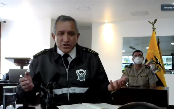 Patricio Carrillo, comandante de la Policía, durante su comparecencia ante la Asamblea, el 1 de marzo de 2021.