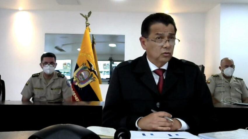 Patricio Pazmiño, ministro de Gobierno, durante su comparecencia ante la Asamblea, el 1 de marzo de 2021.
