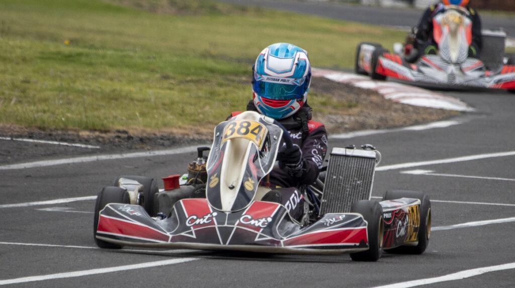 Esteban Pólit, el kartista que entrena con el excorredor de F3 Giulliano Raucci