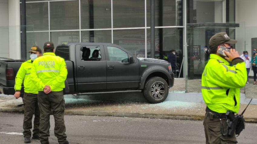 Imágenes de la escena del crimen de Harrison Salcedo, el 28 de abril de 2021, en Quito.