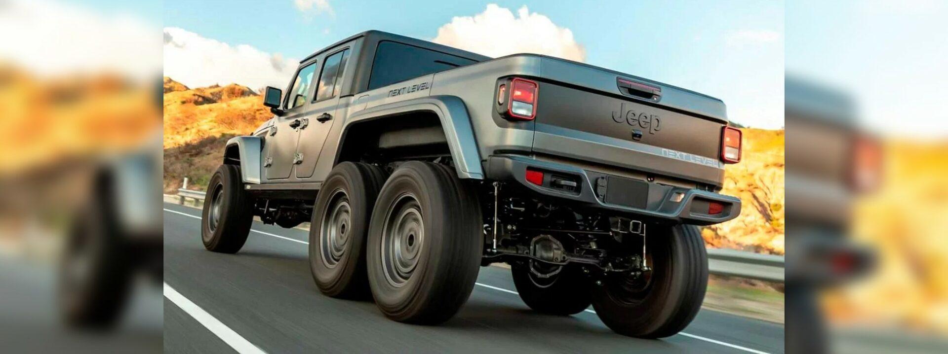 Jeep Gladiator de 6 ruedas, una pick up de otro nivel