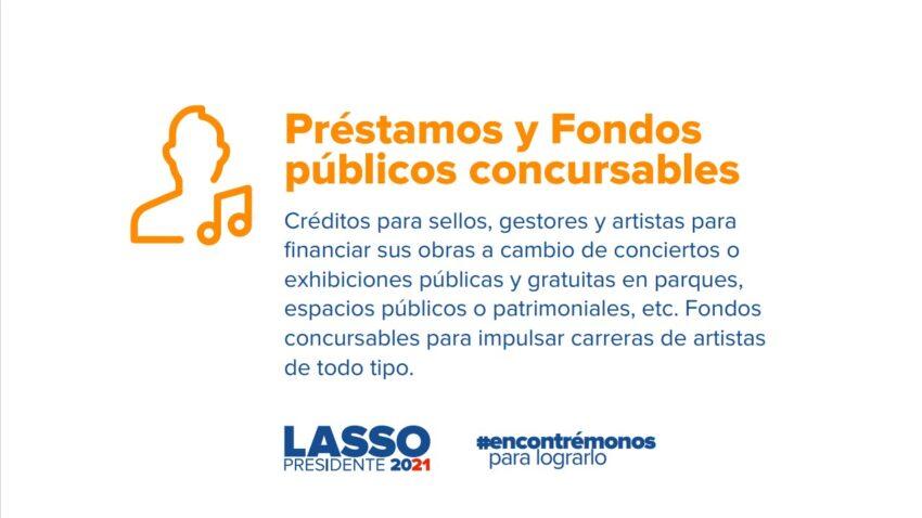 Propuestas de Guillermo Lasso para el sector cultural.