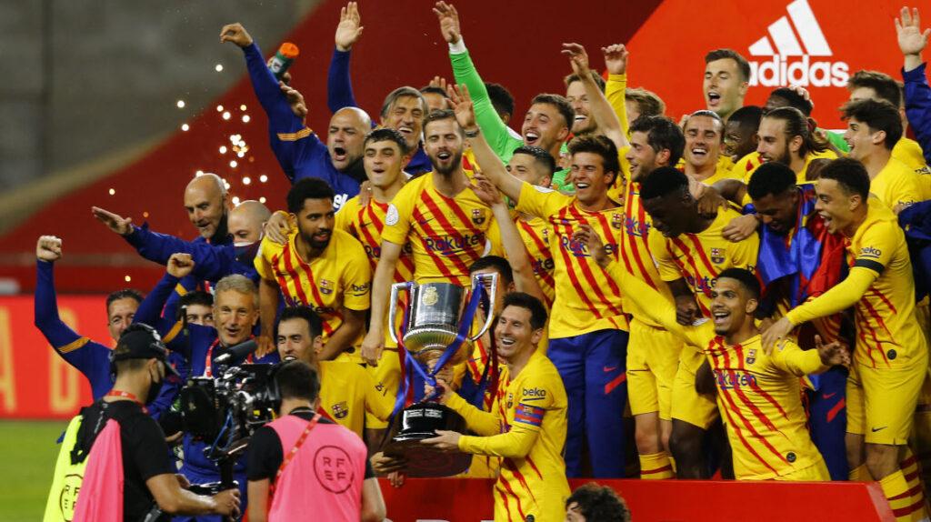 El FC Barcelona golea 4-0 y consigue su título 31 de la Copa del Rey