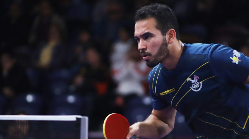 Alberto Miño debuta y pierde contra Nikhil Kumar en el tenis de mesa