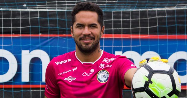 Daniel Viteri vistiendo la camiseta de Guayaquil City en su última temporada como portero.