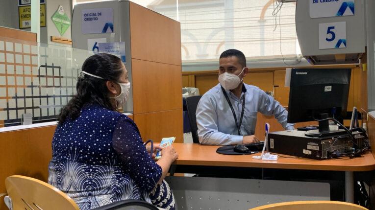 Foto de una de las agencias de la Cooperativa de Ahorro y Crédito Andalucía, en Ecuador, en marzo de 2021.