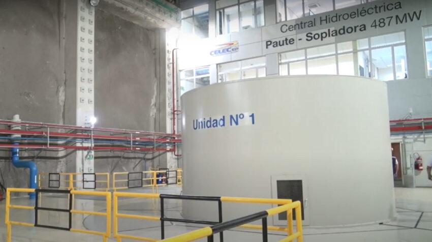 Central hidroeléctrica Sopladora, en 2021.