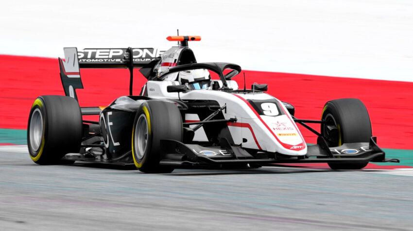 El ecuatoriano Juan Manuel Correa a bordo de su monoplaza ART Grand Prix, durante las sesiones de entrenamiento de la Fórmula 3, en Spielberg, Austria, el domingo 4 de abril de 2021.