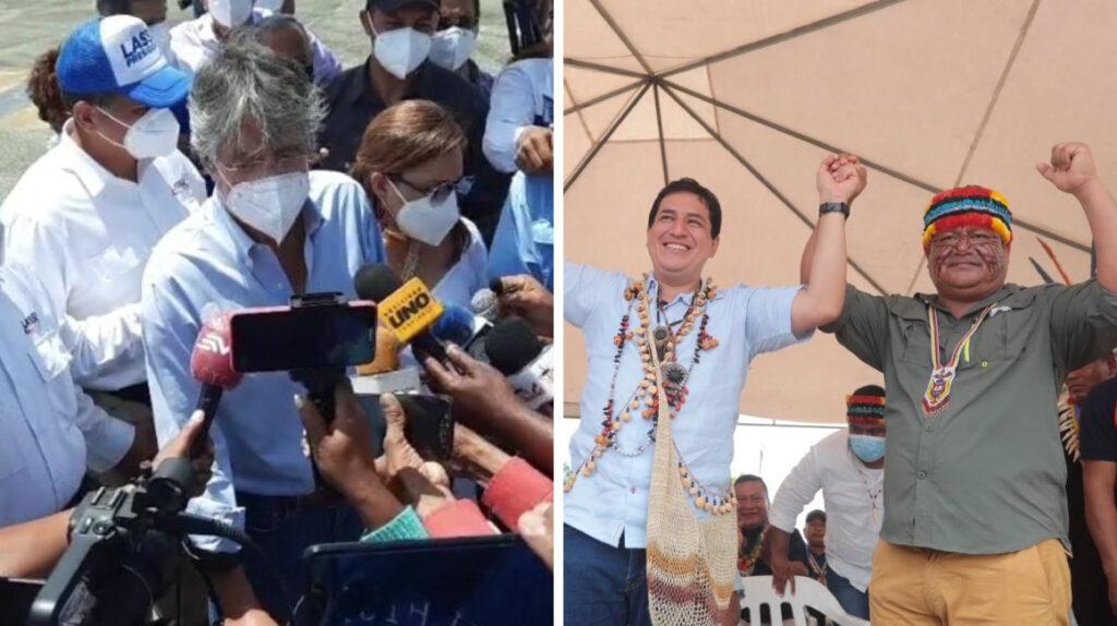 Arauz le hace un guiño a los indígenas, y Lasso ofrece un hospital en Esmeraldas