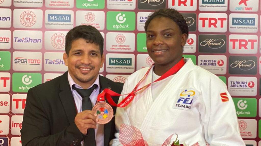 La judoca Vanessa Chalá clasifica a los Juegos Olímpicos de Tokio