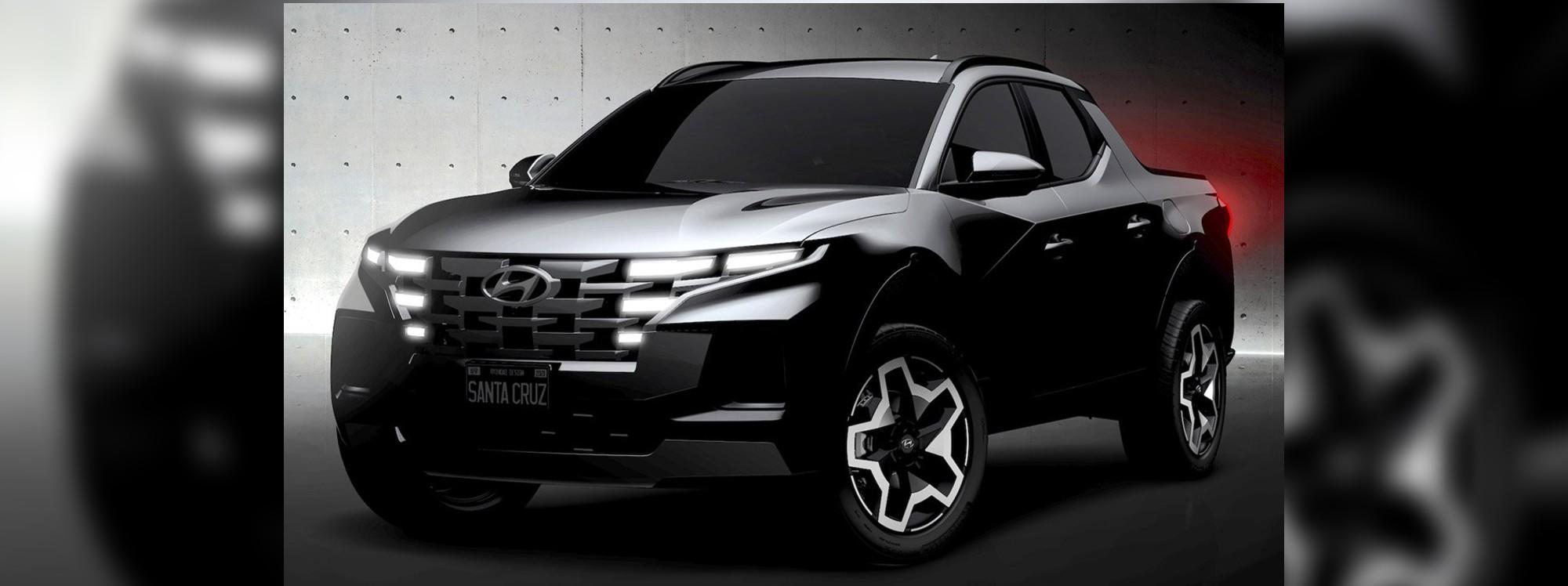 Hyundai adelantó imágenes de la nueva Santa Cruz