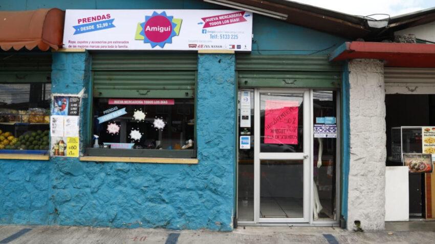 Una de las nueve tiendas de Amigui, en el sector del Inca, en Quito, el 1 de abril de 2021.