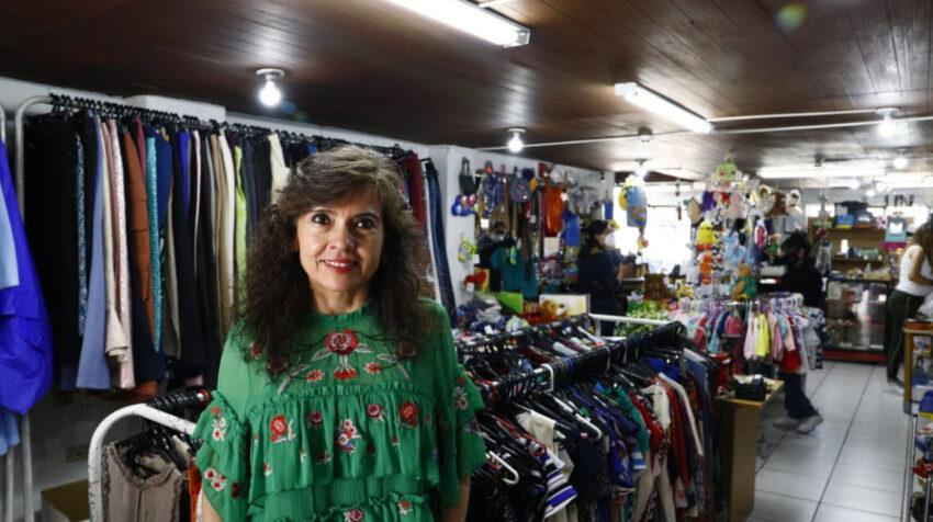 Carol Mendizábal es la propietaria del Mercadito D'Carol, que funciona hace cinco años en Quito.