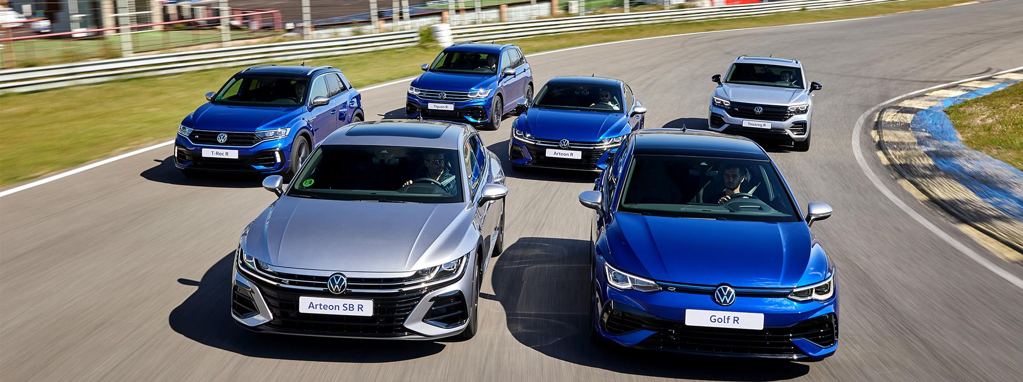 Volkswagen presenta la gama deportiva R más grande de su historia
