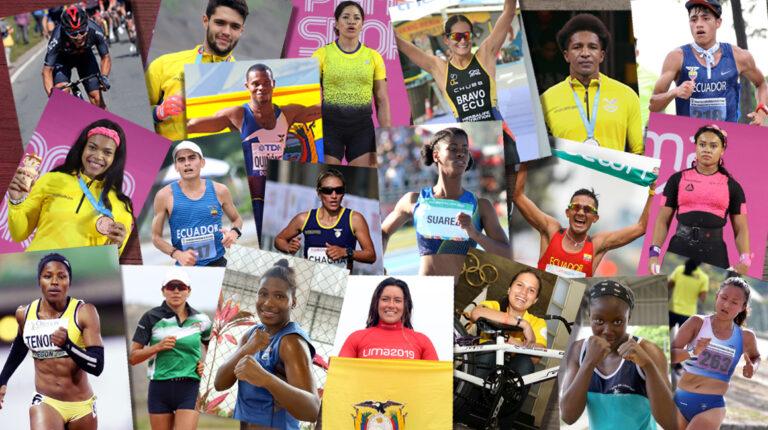 Deportistas ecuatorianos clasificados a los Juegos Olímpicos de Tokio 2021.