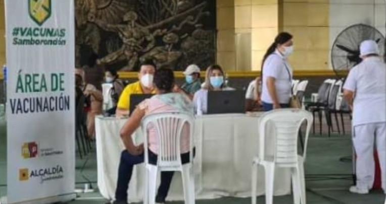 En el Coliseo de Samborondón no se registró la asistencia masiva de personas que iban a vacunarse, el 31 de mayo de 2021.