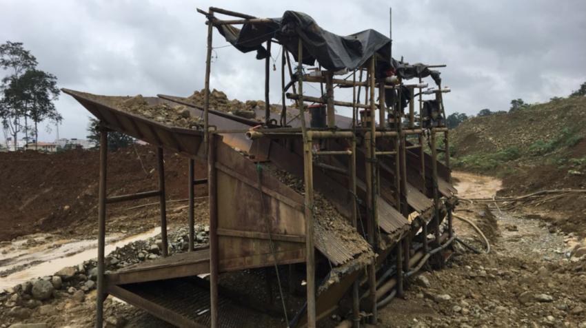 Inspección técnica de control ambiental en el río Guanache, el 31 de julio de 2018.