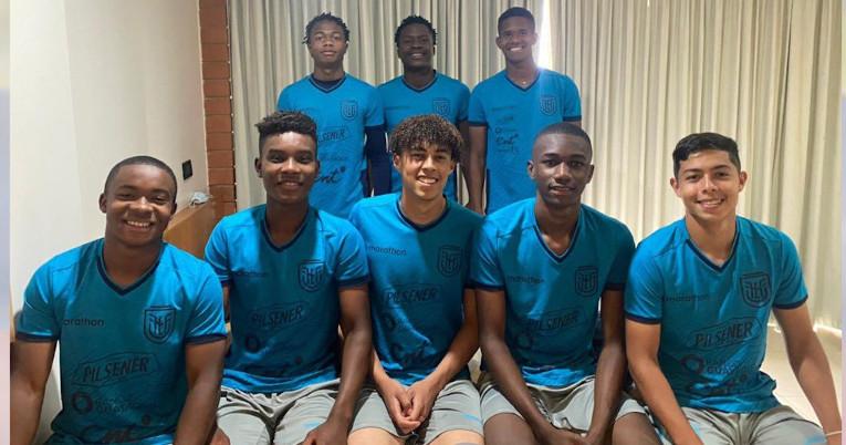 Los jugadores Sub 17 de Liga convocados para la selección de Ecuador de la categoría.