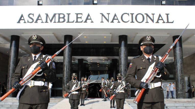 Vista del edificio de la Asamblea Nacional. Quito, 23 de mayo de 2021.