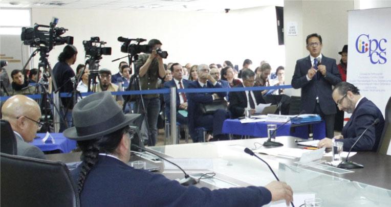 El 5 de abril del 2019 se realizó la audiencia pública de impugnación en contra de Freddy Carrión. El Pleno del Consejo desestimó la denuncia y no la investigó.