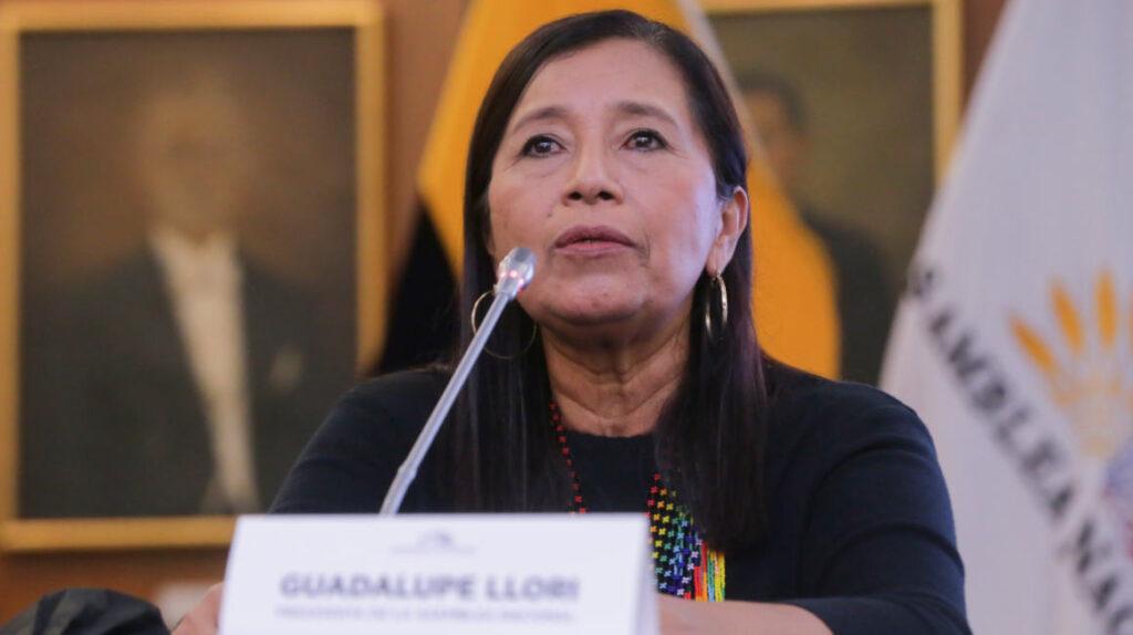 Guadalupe Llori, la perseguida política que ahora dirige el Legislativo