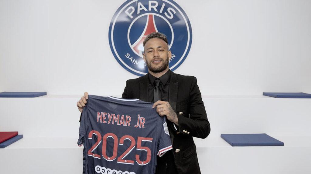 Neymar extiende su contrato con el Paris Saint-Germain hasta 2025