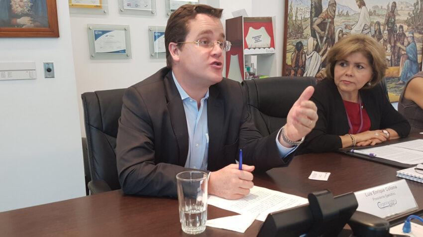 Luis Enrique Coloma, el 31 de mayo de 2018, cuando se desempeñaba como presidente Ejecutivo de la Corporación GPF