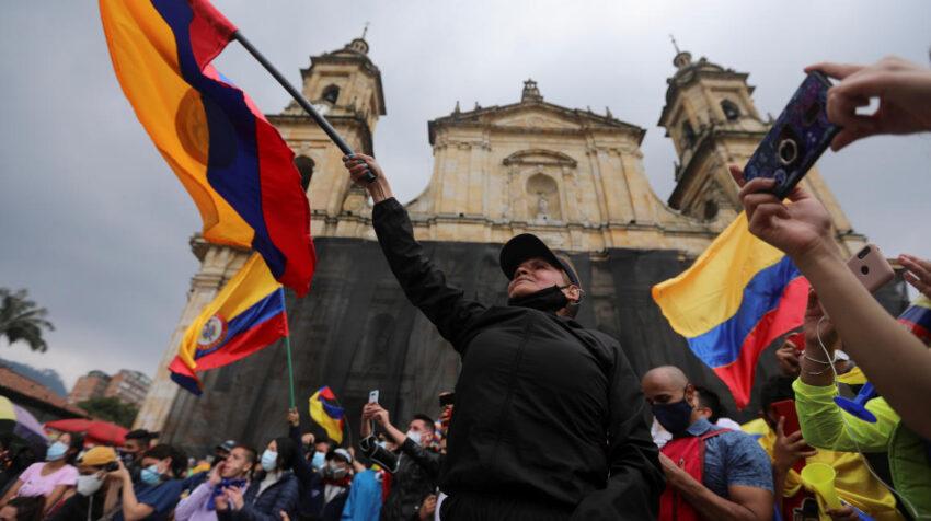 Manifestación en Colombia en contra del Gobierno de Iván Duque. 5 de mayo de 2021.