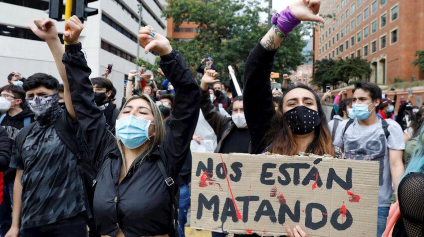 Los estudiantes se sumaron a las protestas en contra del Gobierno de Iván Duque. Bogotá, 4 de mayo de 2021.