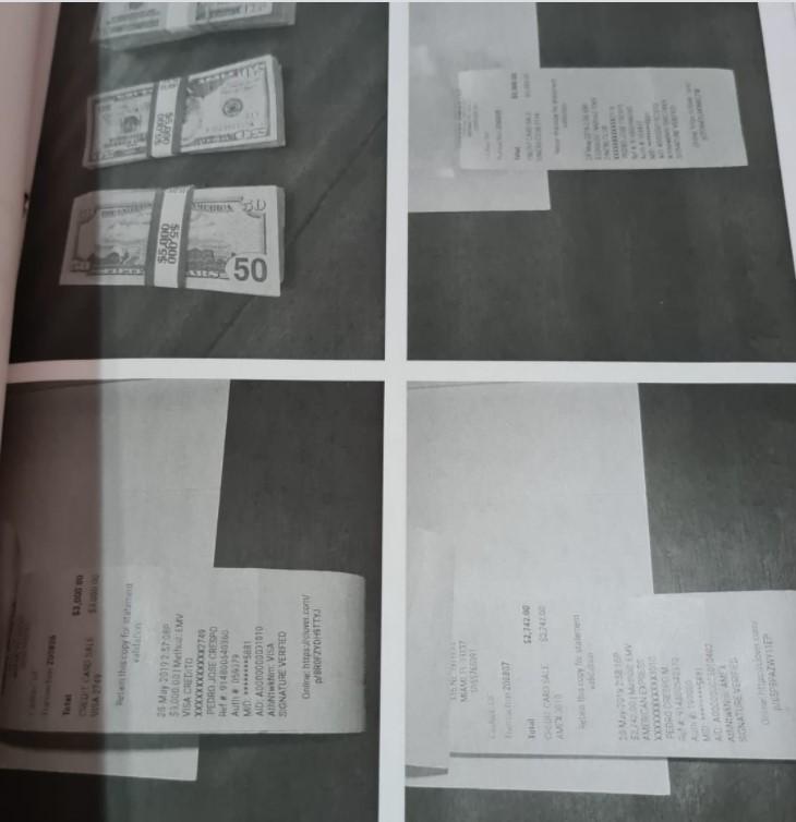 Parte de las imágenes que envió Estados Unidos y forma parte del expediente del caso Las Torres.
