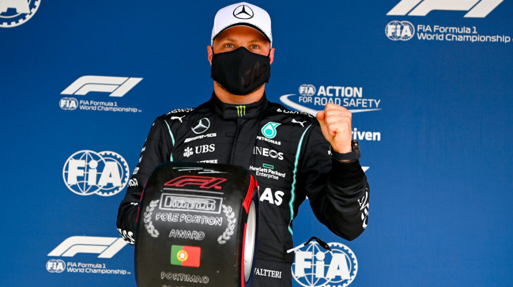 Valtteri Bottas evita la 'pole' número 100 de Lewis Hamilton en Portimao