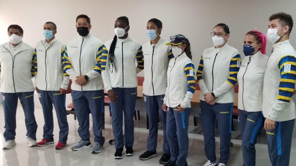 La ceremonia de abanderamiento para Tokio 2021 se realizó en Guayaquil