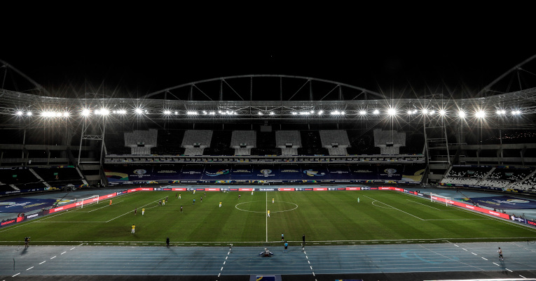 Vista general del estadio Nilton Santos durante el partido de la Copa América entre Ecuador y Venezuela, el 20 de junio de 2021.