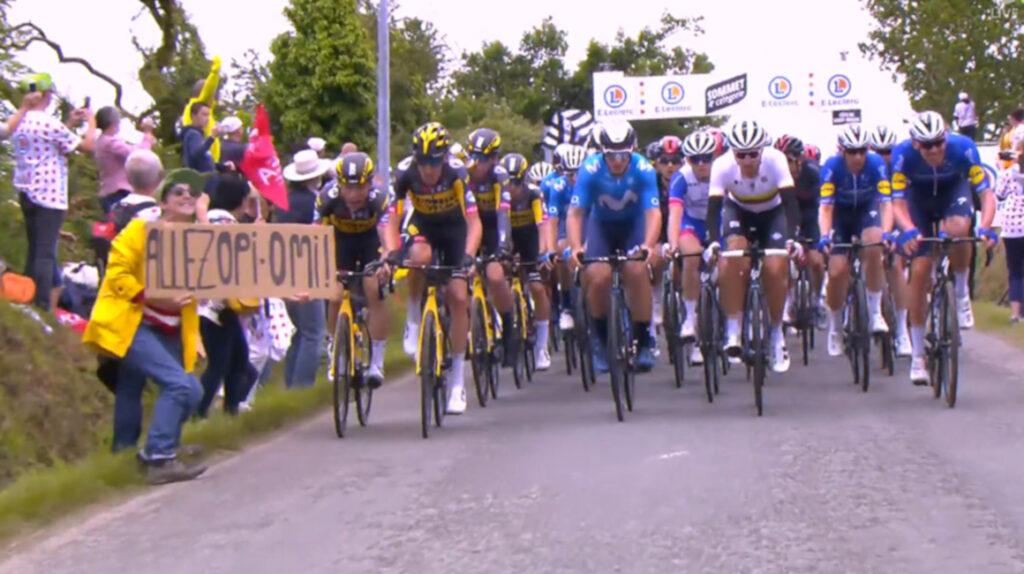 El Tour retira la denuncia contra la aficionada que provocó la caída