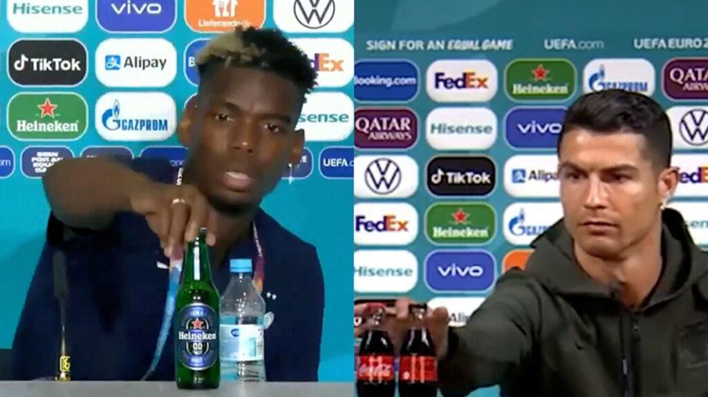 Apartar las botellas en ruedas de prensa, un nuevo problema para la UEFA