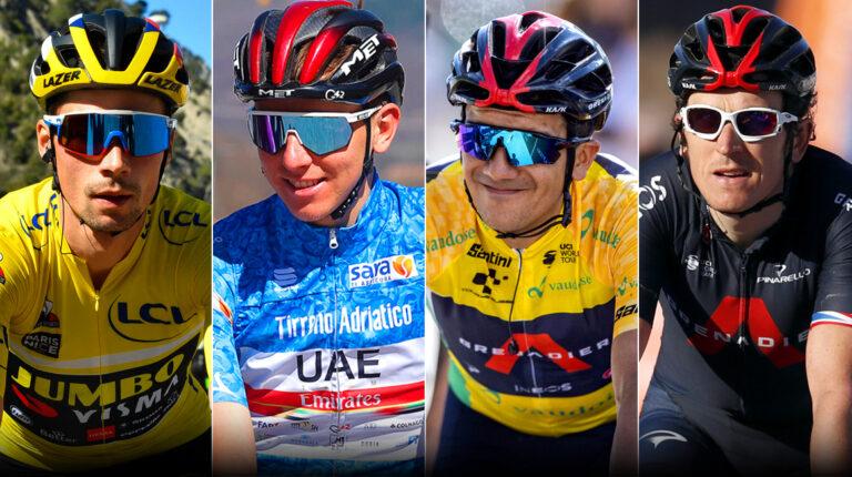 Primoz Roglic, Tadej Pogacar, Richard Carapaz y Geraint Thomas, los grandes candidatos para ganar el Tour de Francia 2021.