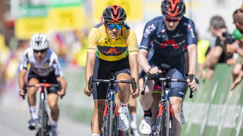 Richard Carapaz durante la Etapa 8 del Tour de Suiza, el domingo 13 de junio de 2021.