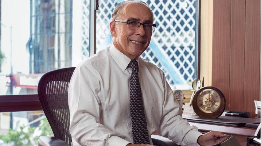 Ricardo Rivadeneira presidente del directorio de la Bolsa de Valores de Guayaquil, el 13 de junio de 2021.
