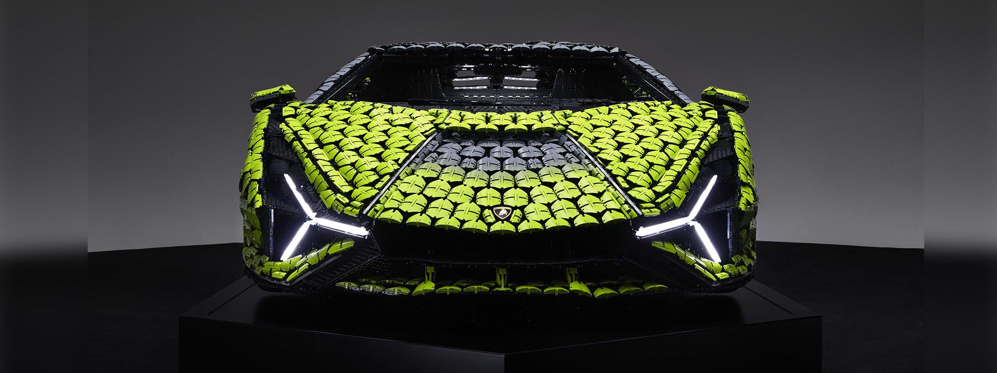Este Lamborghini está hecho completamente de Legos