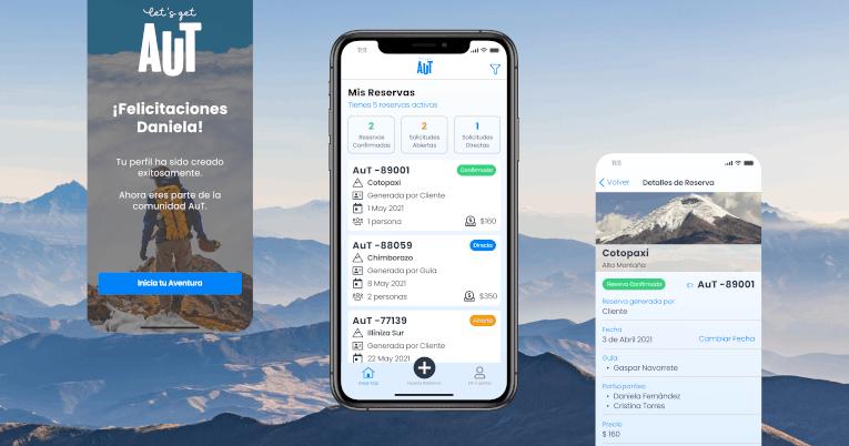 Vista preliminar de la aplicación AuT para los aficionados y profesionales del montañismo.