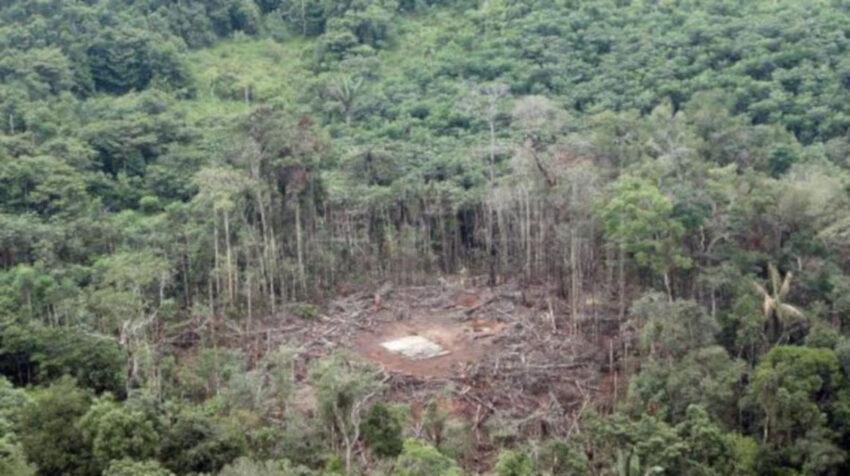 Imagen de archivo del sitio del bombardeo de Angostura, ocurrido en marzo de 2008.