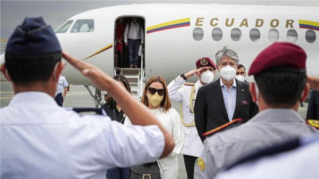 El presidente Lasso regresó a Ecuador tras su cirugía