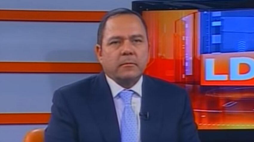 Diego Sánchez durante una entrevista en Teleamazonas, el 23 de julio de 2018.