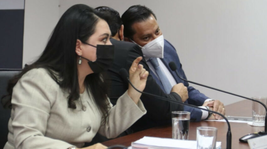 María del Carmen Maldonado, presidenta del CJ, durante una rueda de prensa sobre el caso Jorge Yunda, el 8 de julio de 2021.