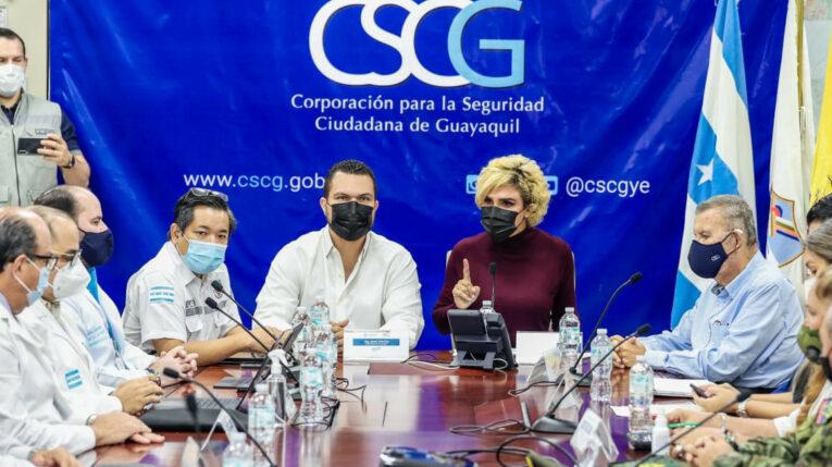 El COE cantonal de Guayaquil anunció medidas para enfrentar la variante delta de Covid-19, el 14 de julio de 2021.