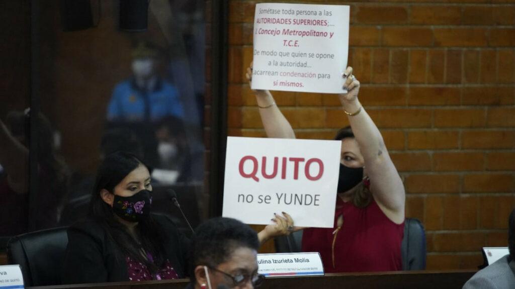 Acalorado cruce de acusaciones en la sesión del Concejo de Quito
